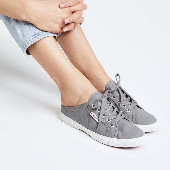 Superga Shoes   Superga Cotu Mule Grey